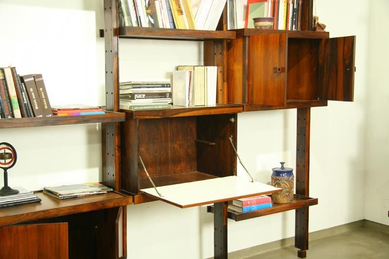 Rosewood shelving unit by Sergio Rodrigues image 4