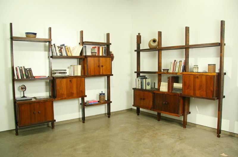 Rosewood shelving unit by Sergio Rodrigues image 9
