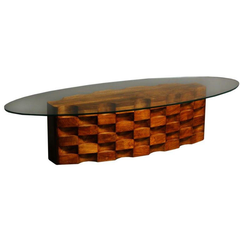 Stack Laminate Oak California Craftsman Coffee Table At 1stdibs