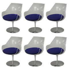 Set of six CHAMPAGNE chairs by LAVERNE.