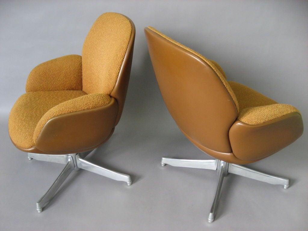 Pair Of Chairs Labled Warren Platner Steelcase Circa 1965
