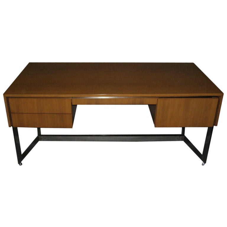Strong Executive Desk By Mobilier National At 1stdibs