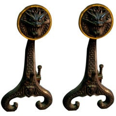 ANDIRONS by BRADLEY AND HUBBARD AMERICAN