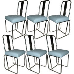 SET OF SIX DINNING CHAIRS BY FRANCOIS ARNAL