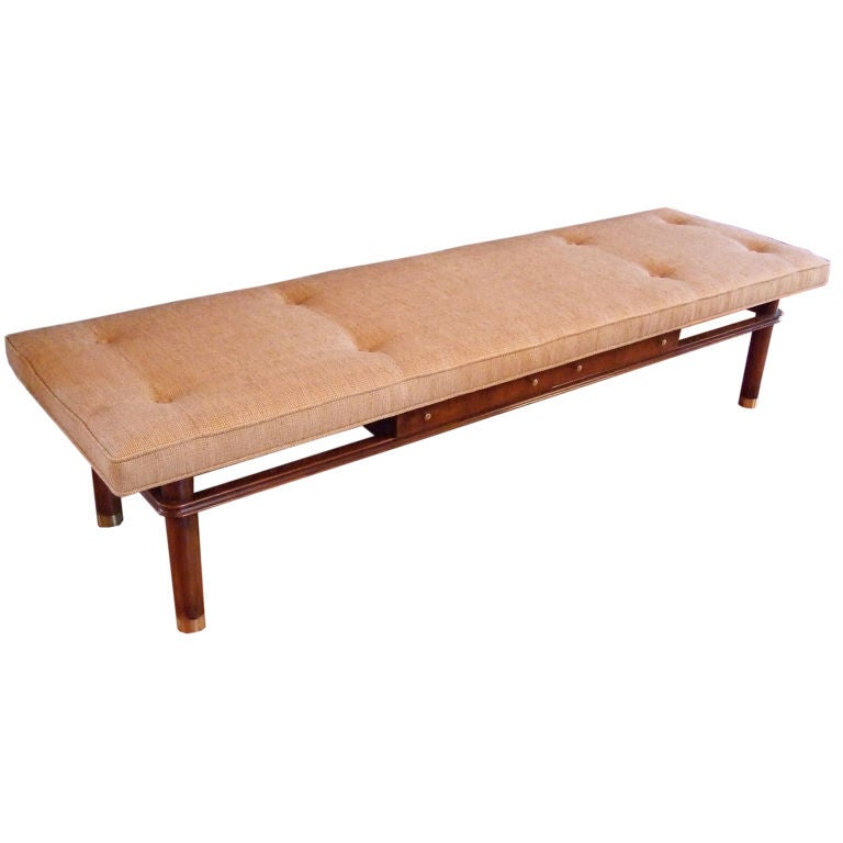 Frankl Upholstered Bench With Drawers At 1stdibs