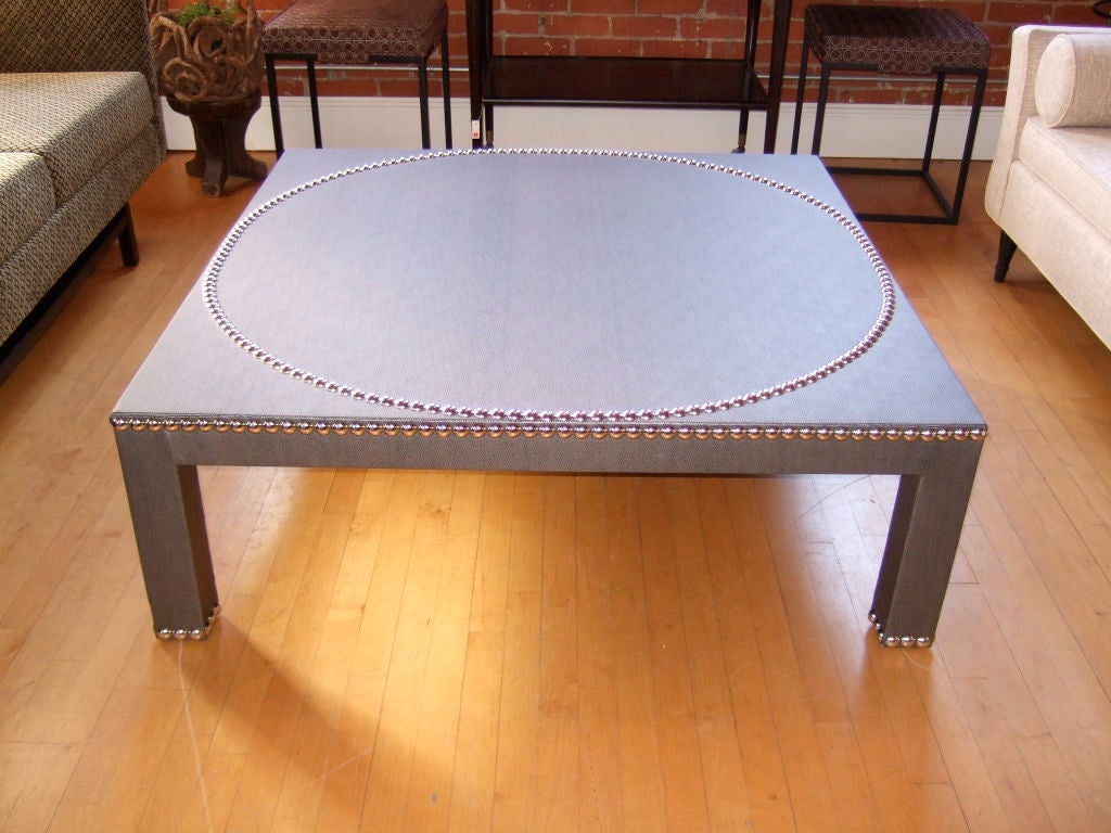 48 Studded Parsons Coffee Table At 1stdibs