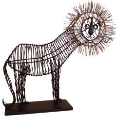 Mid Century Lion Sculpture