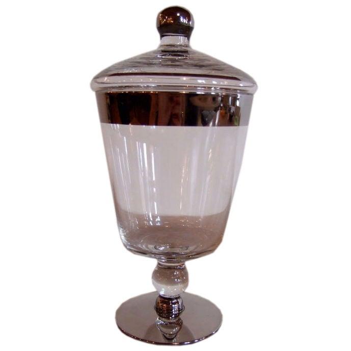 Glass apothecary jar at 1stdibs for Designer glass jars