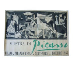 A Vintage Poster of a Picasso Museum Show in 1953