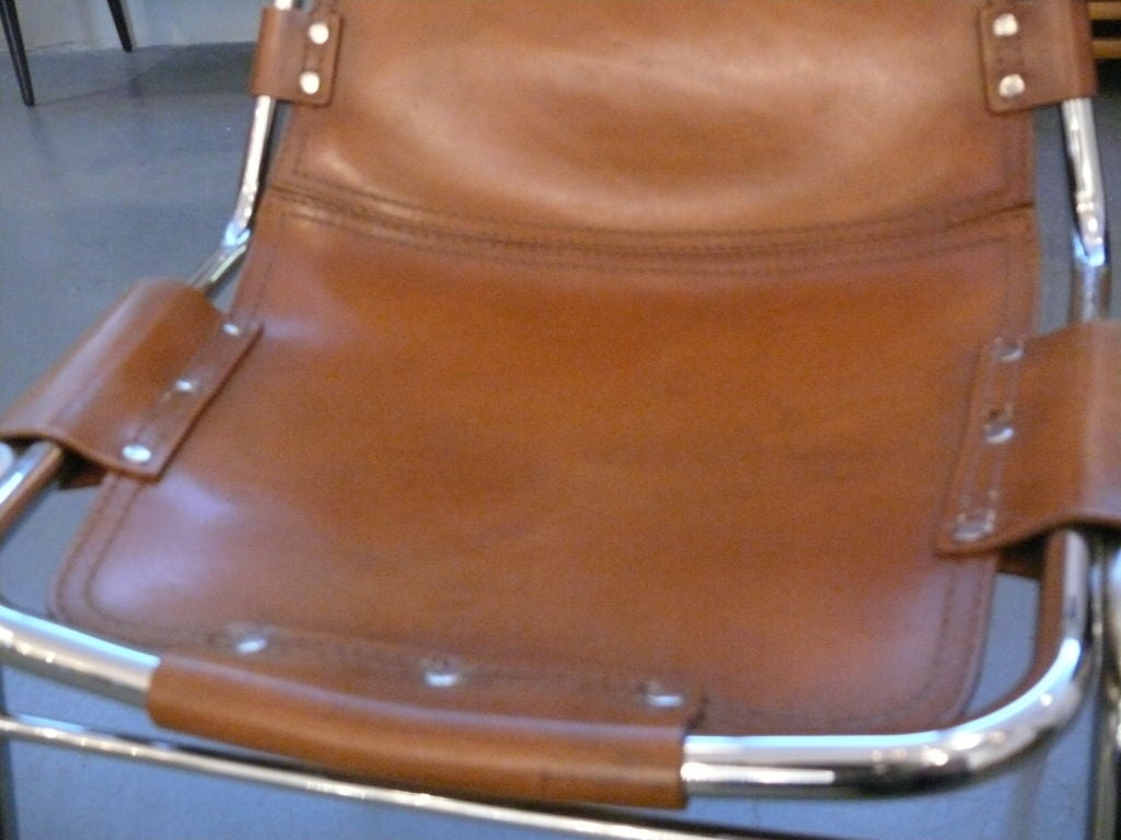 Leather Charlotte Perriand Side Chair