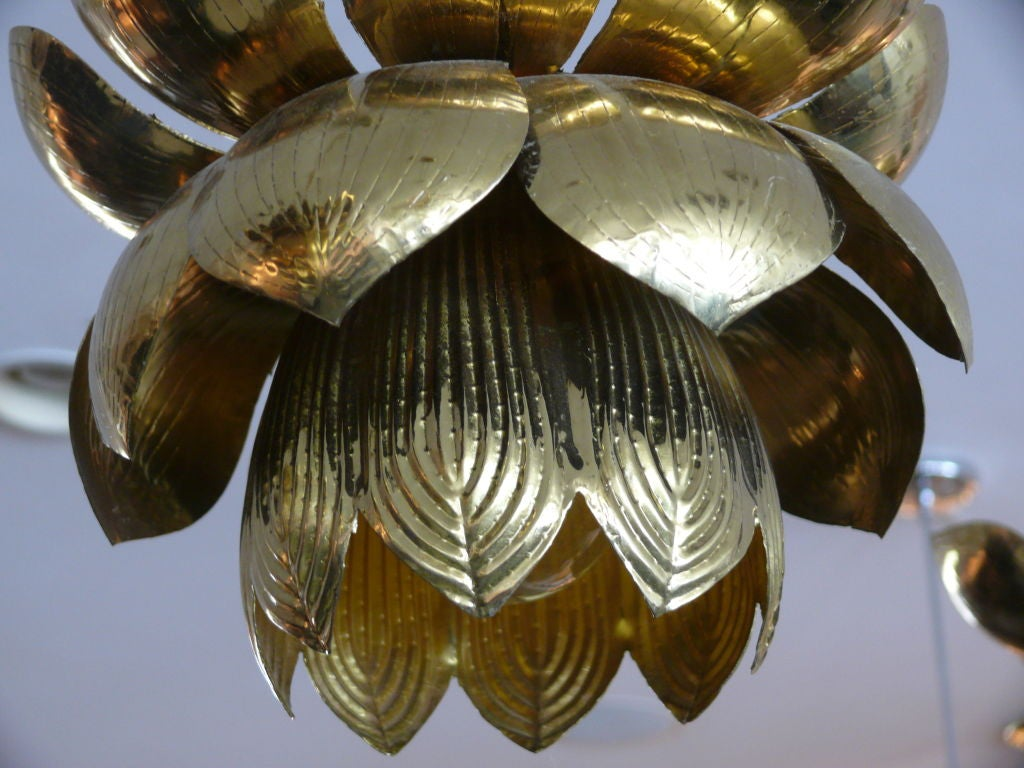American Brass Lotus Lights For Sale