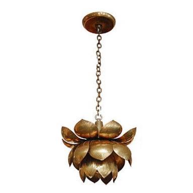 Brass Lotus Lights