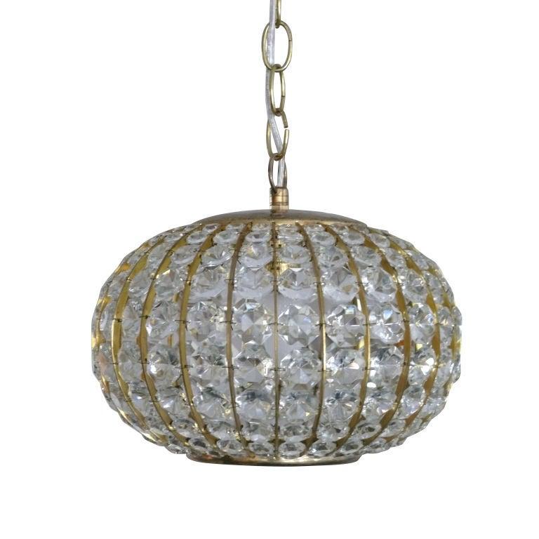 Crystal Globe Chandelier At 1stdibs