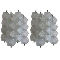 Venini Cubed Sconces