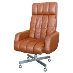 Leather High Back Executive Desk Chair