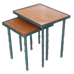 Jacques Adnet Nesting Tables