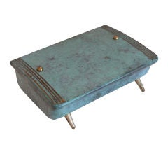 Petite Italian Metal and Brass Box