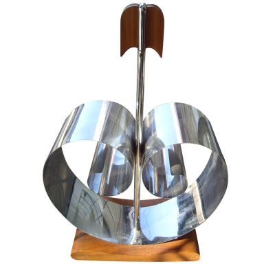 Deco Rome/Revere/NY, attb , magazine stand rack in chrome wood