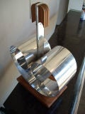 Deco Rome/Revere/NY, attb , magazine stand rack in chrome wood image 2