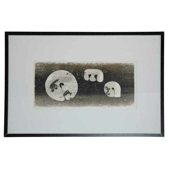 """Three Gongs"" -- A Monotype by Harry Bertoia"