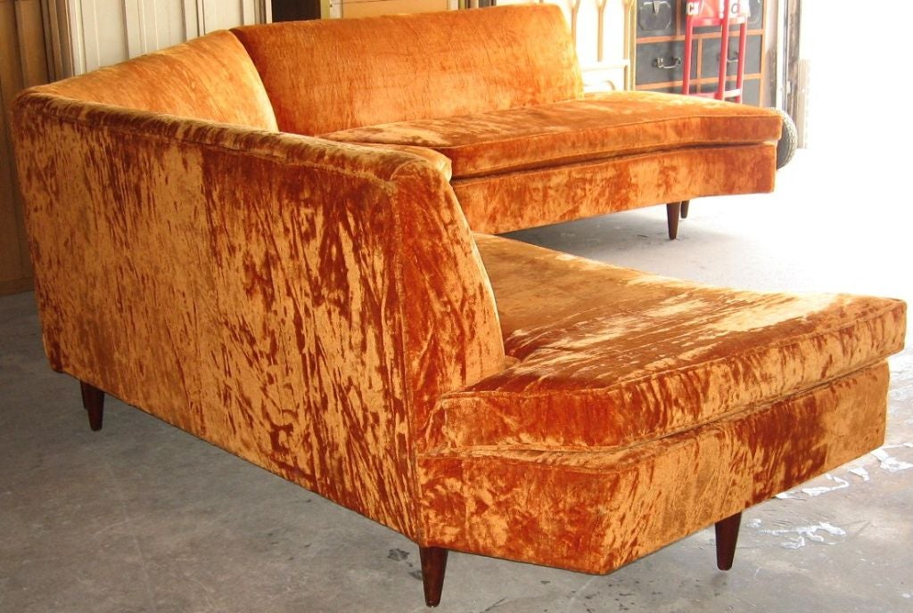 Mid Century Modern Three Piece Sectional Sofa image 10