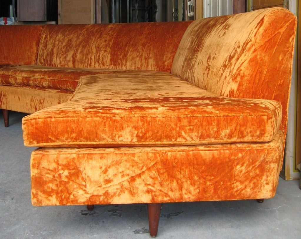 Mid Century Modern Three Piece Sectional Sofa image 2