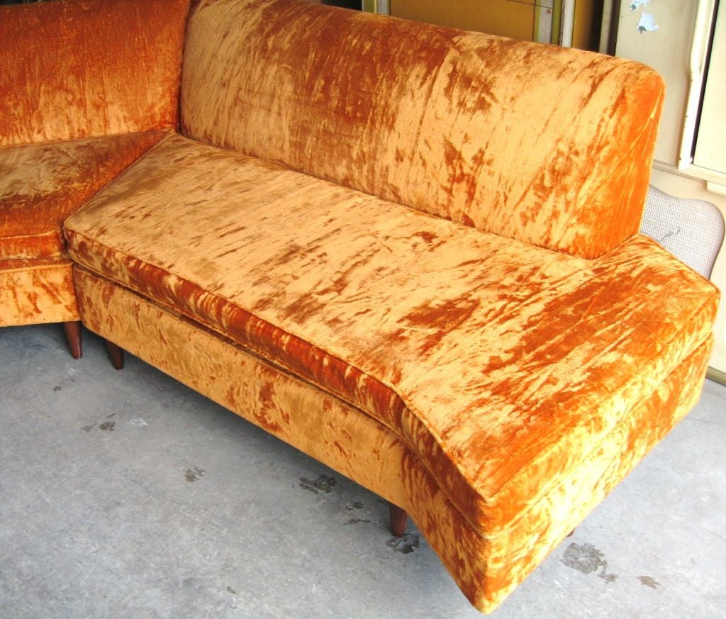 Mid Century Modern Three Piece Sectional Sofa image 3