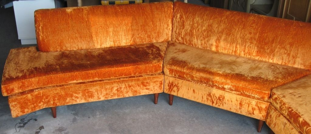 Mid Century Modern Three Piece Sectional Sofa image 4