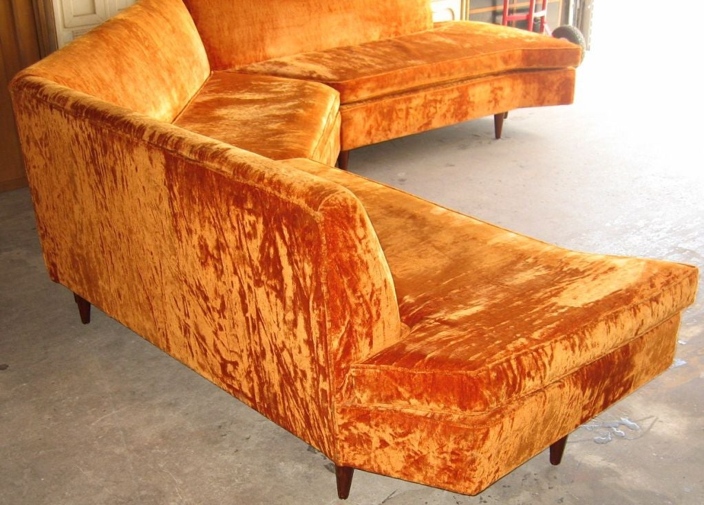 Mid Century Modern Three Piece Sectional Sofa image 5