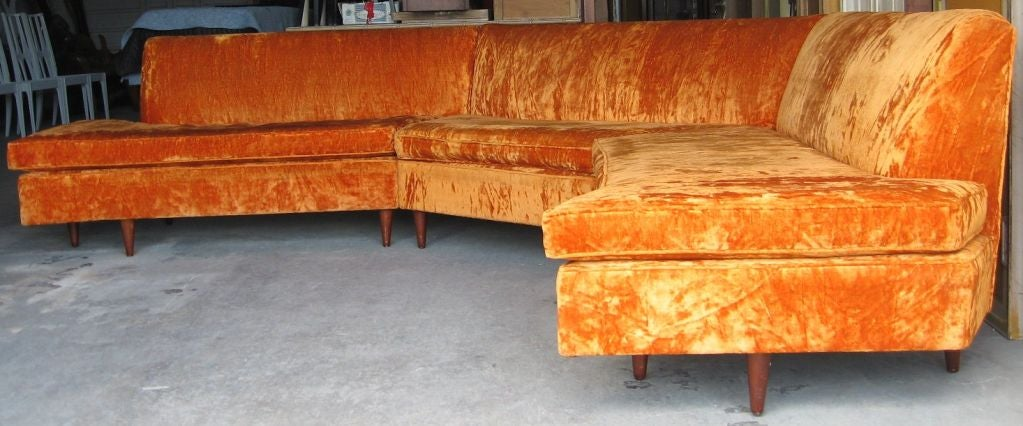 Mid Century Modern Three Piece Sectional Sofa image 7