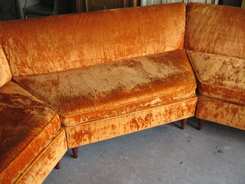 Mid Century Modern Three Piece Sectional Sofa image 9