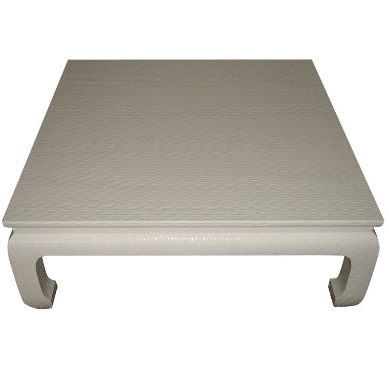Baker Furniture Linen Wrapped Coffee Table In The Asian