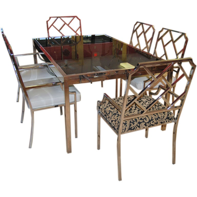 vintage modern chippendale dining room set at 1stdibs