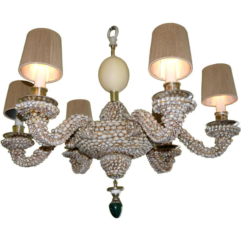 RARE  ANTHONY REDMILE SHELL CHANDELIER