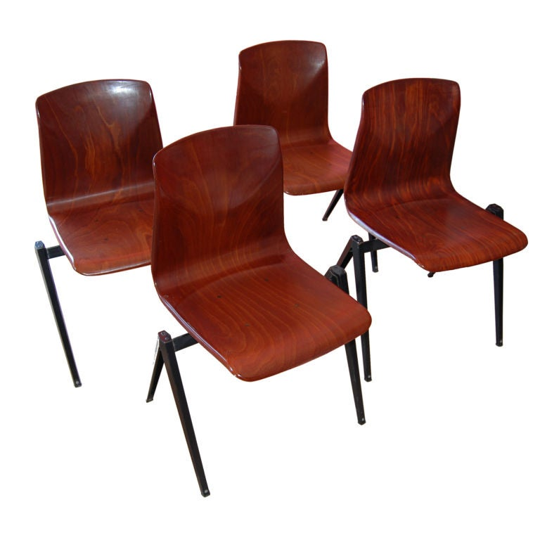 The best set of 12 friso kramer dining chairs at 1stdibs - Kamer dining ...