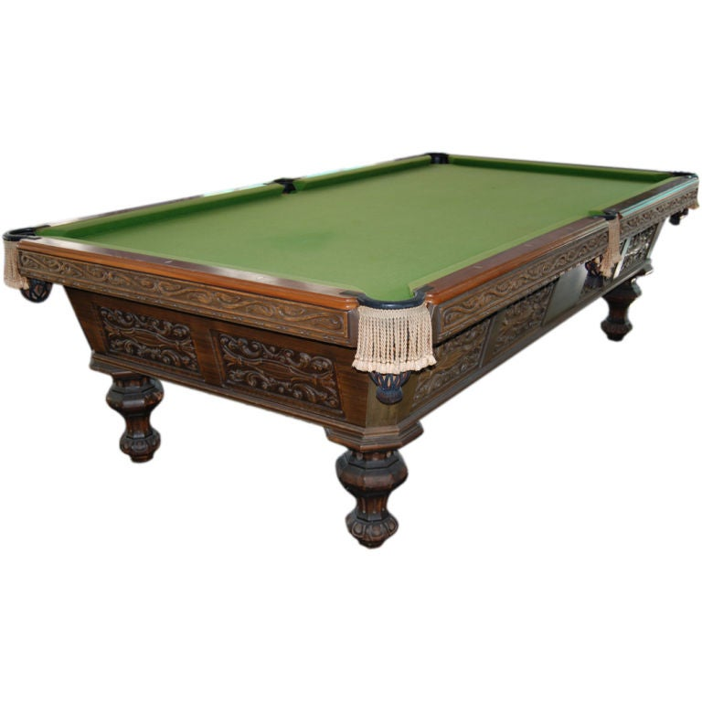 Superb brunswick billiard pool table at 1stdibs for Brunswick pool tables