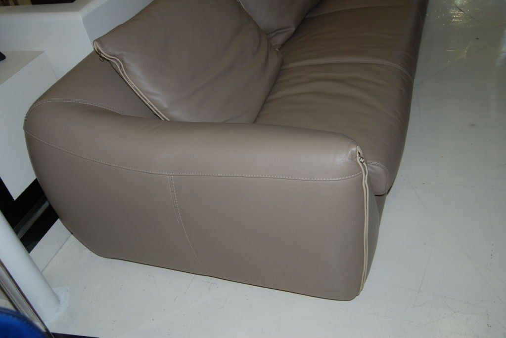 glove leather roche bobois sofa at 1stdibs