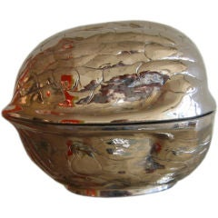 Nickel Silvered Walnut Box