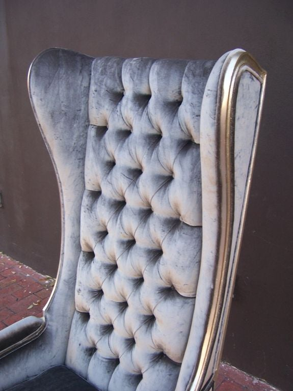Louis Style Tall Wingback Armchair At 1stdibs