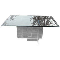 Lucite Base Dining Table or Desk