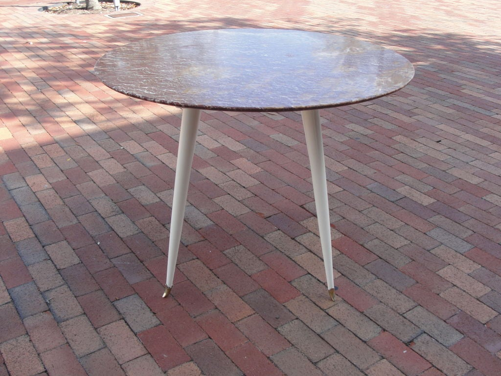 Foyer Table Red : Red marble foyer table by osvaldo borsani for sale at stdibs