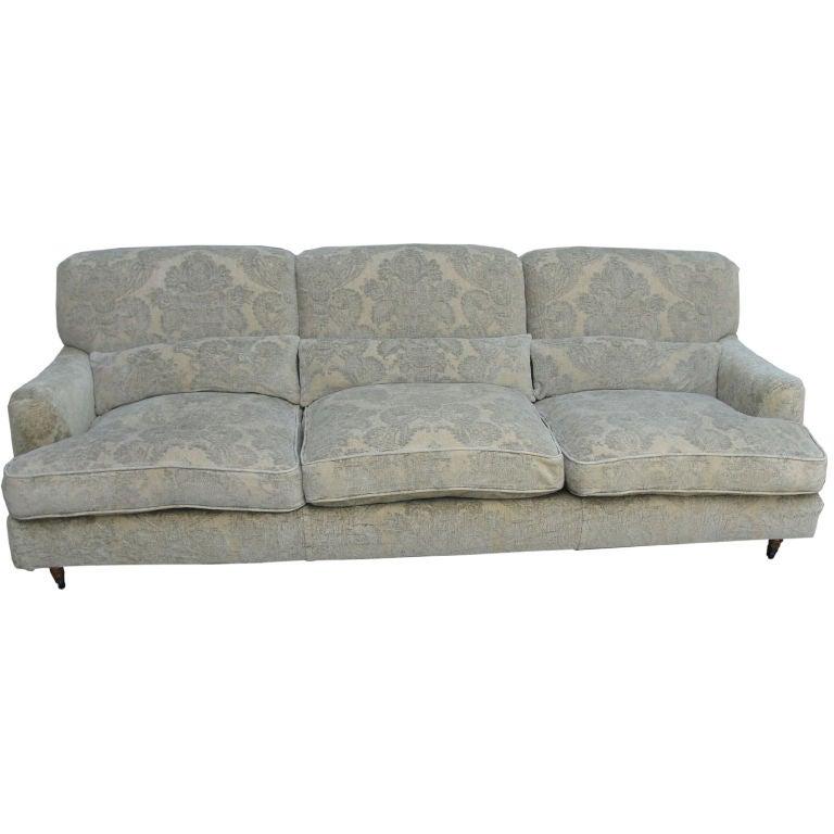 Luxurious Vico Magistretti Sofa In Fortuny Silk Cover