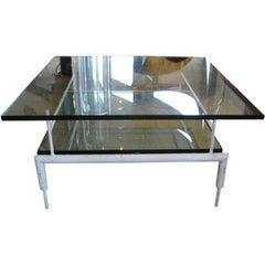 French Vintage Modernist Coffee Table - Two Tiered