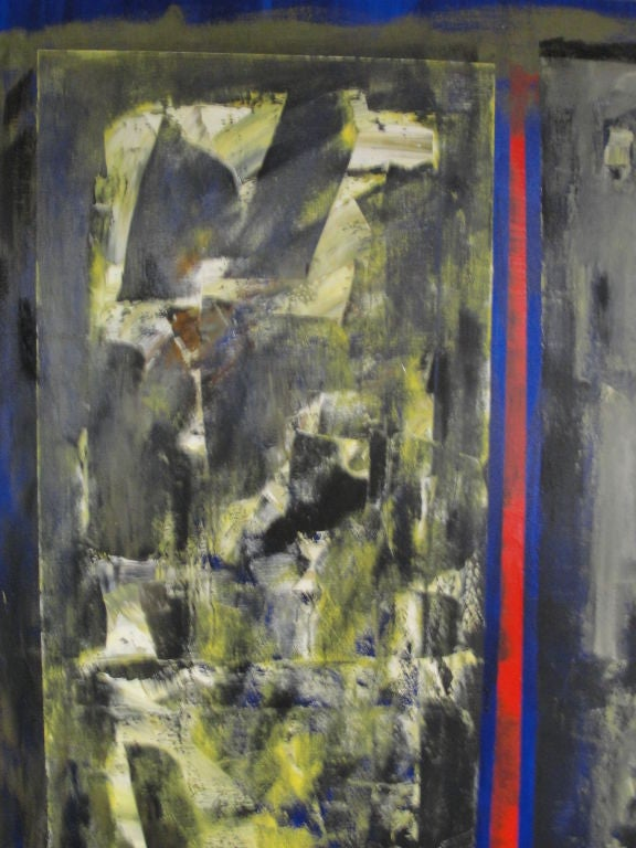 American Monumental Perez Celis Two-Panel Oil on Canvas 'Signed' For Sale