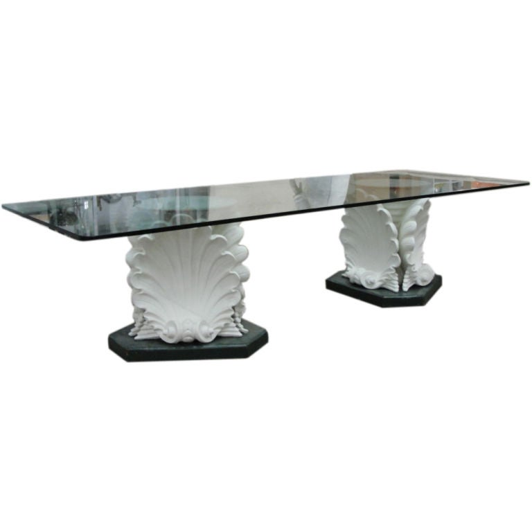 Massive French Plaster Table Bases in Venus Shell Motif  : 810212700457001 from www.1stdibs.com size 768 x 768 jpeg 21kB