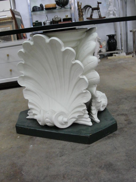 Massive French Plaster Table Bases in Venus Shell Motif at  : 810212700457002 from 1stdibs.com size 576 x 768 jpeg 61kB