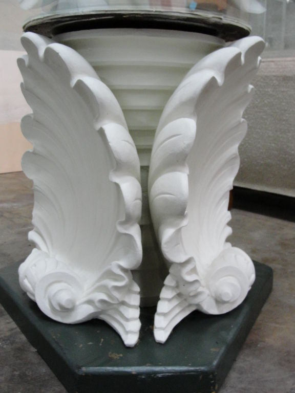 Massive French Plaster Table Bases in Venus Shell Motif  : 810212700457004 from www.1stdibs.com size 576 x 768 jpeg 47kB