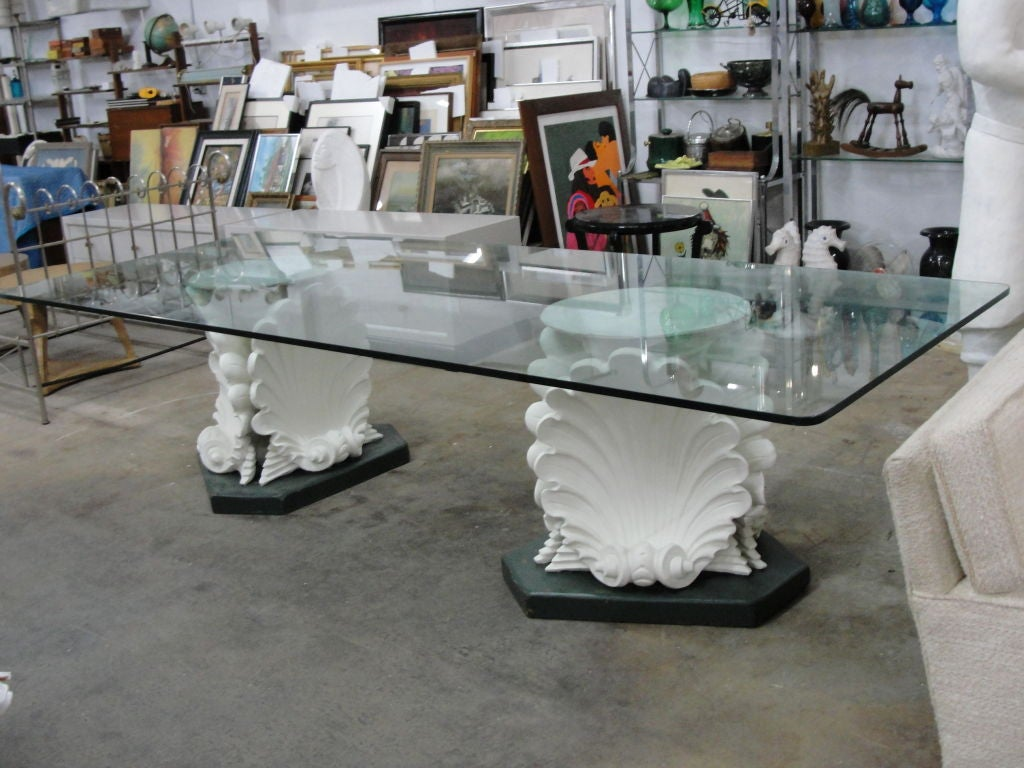 Massive French Plaster Table Bases in Venus Shell Motif  : 810212700457005 from www.1stdibs.com size 1024 x 768 jpeg 119kB