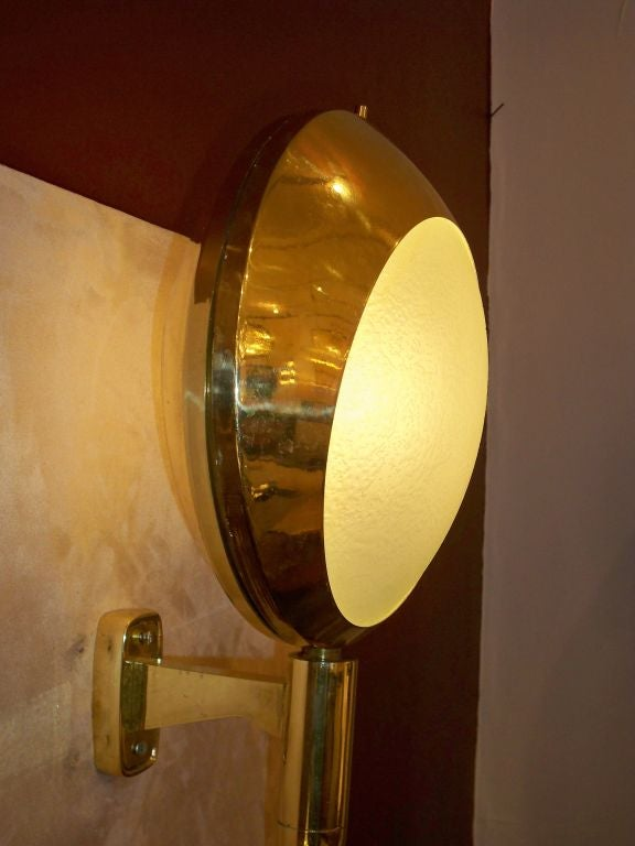 A Pair of Very Large Scale Wall Sconces in Brass by Stilnovo at 1stdibs