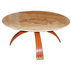 Round Cocktail or Occasional Table by Osvaldo Borsani